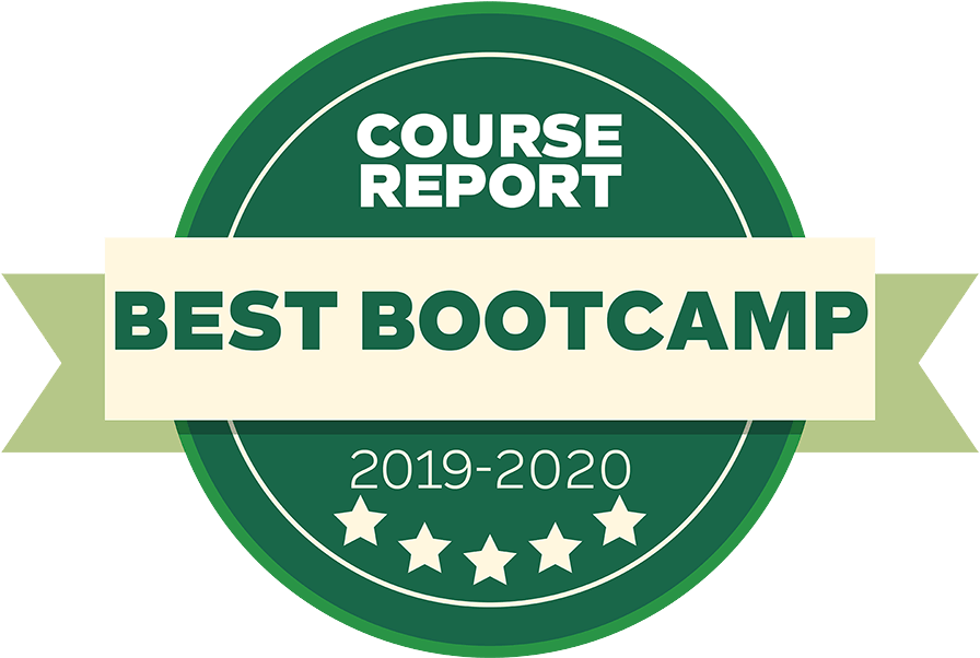 Sabio's Course Report Badges for 4 years from 2017-2021 Best Bootcamp